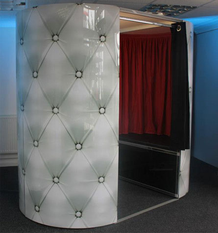 studded leather deluxe photo booth