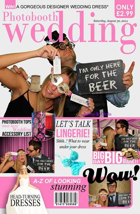 photobooth wedding magazine cover